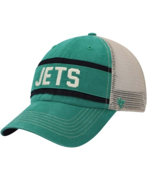 Mens Kelly Green, Natural New York Jets Juncture Trucker Clean Up Snapback Hat