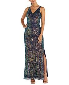 Printed Sequin Dress