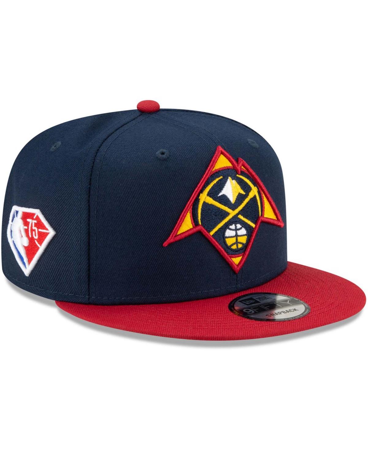 Men's Navy, Red Denver Nuggets 2021 Nba Draft On-Stage 9Fifty Snapback Adjustable Hat