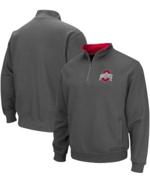 Men's Charcoal Ohio State Buckeyes Tortugas Team Logo Quarter-Zip Jacket