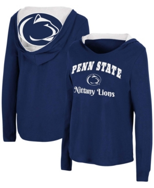 Women's Navy Penn State Nittany Lions Catalina Hoodie Long Sleeve T-shirt