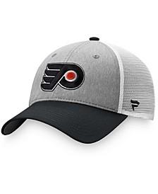 Men's Gray, Black Philadelphia Flyers Team Trucker Snapback Hat