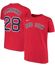 Youth Big Boys J.D. Martinez Red Boston Red Sox Player Name and Number T-Shirt