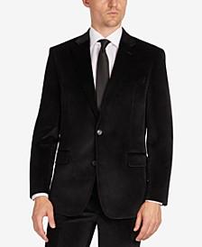 Men's Velvet Modern-Fit Suit Separate Jacket