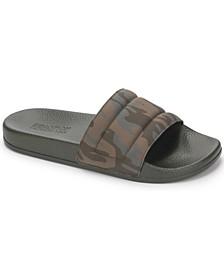 Men's Screen Quilted Slide Sandals