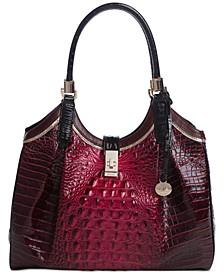 Celia Embossed Leather Satchel