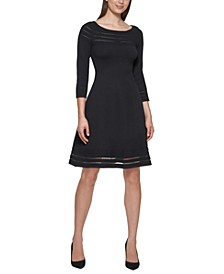 3/4-Sleeve Sweater Dress