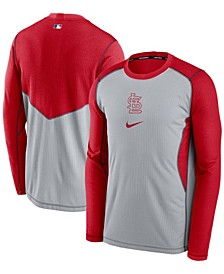 Men's Gray, Red St. Louis Cardinals Authentic Collection Game Performance Pullover Sweatshirt