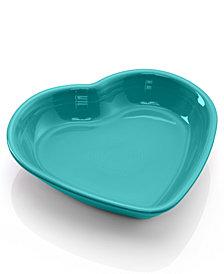 Fiesta Turqouise Medium Heart Bowl