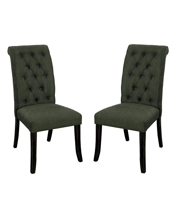 Furniture of America - Landon Side Chair (Set Of 2), Quick Ship