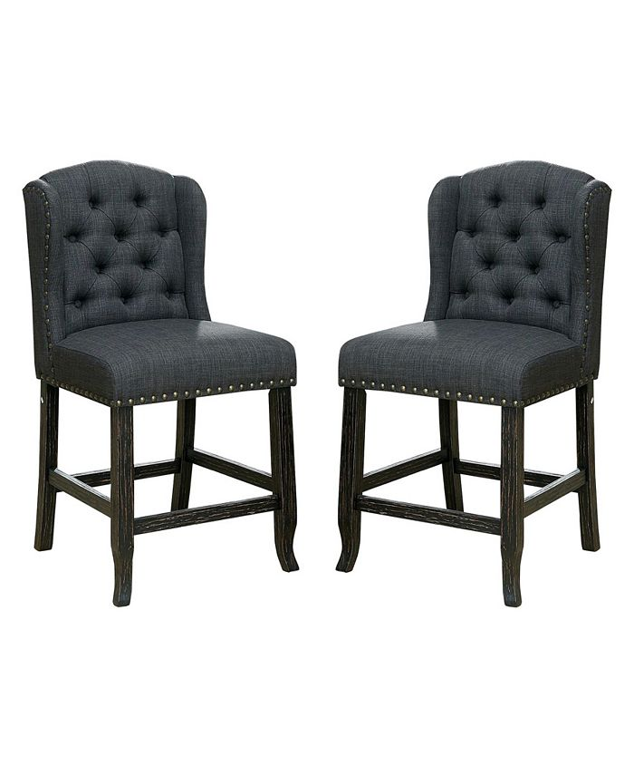 Furniture of America - Langly Pub Chair (Set Of 2), Quick Ship