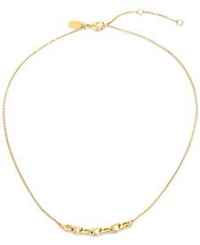 "Gold-Tone Signature C-Chain Mini Statement Necklace, 16"" + 2"" extender"