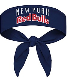 Navy New York Red Bulls Tie-Back Headband