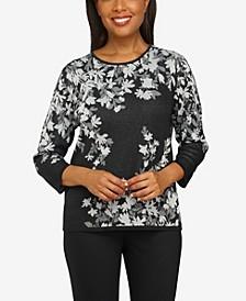 Plus Size Classics Floral Jacquard Sweater