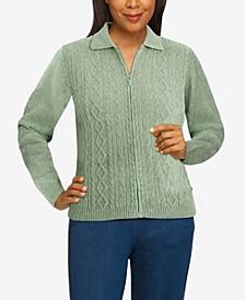 Women's Missy Classics Chenille Cardigan Sweater