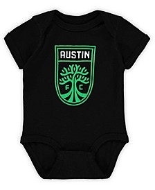 Infant Black Austin FC Primary Logo Bodysuit