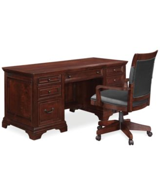 Nice Cambridge Home Office Furniture, 2 Piece Set (Executive Desk And Desk Chair)