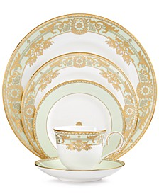 Rococo Leaf 5-Piece Place Setting