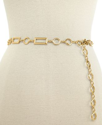 I.N.C. Rectangles and Circles Chain Belt, Created for Macy's