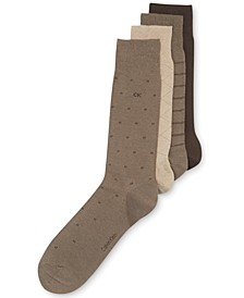4-Pack Patterned Dress Socks