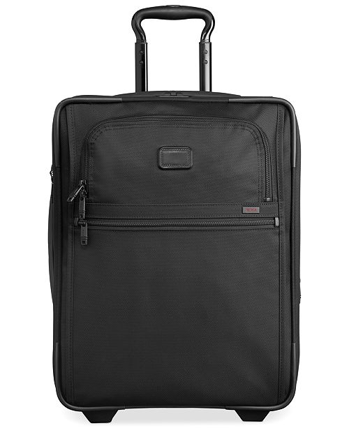 "Tumi 25% OFF Alpha 2 22"" Continental Rolling Carry-On Expandable Suitcase in Black"