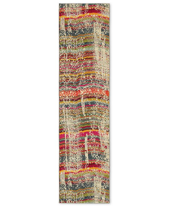 "Oriental Weavers Kaleidoscope 5992F Streaked Stripes 2'7"" x 10' Runner Rug"