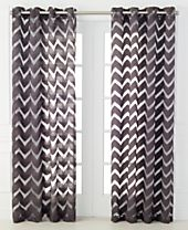 CLOSEOUT! Miller Curtains Nero Sheer Burnout Collection