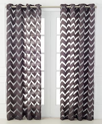 CLOSEOUT! Miller Curtains Nero Sheer Burnout 50\\\