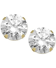 Swarovski Zirconia Round Stud Earrings in 14k Gold (5-5/8 ct. t.w.)