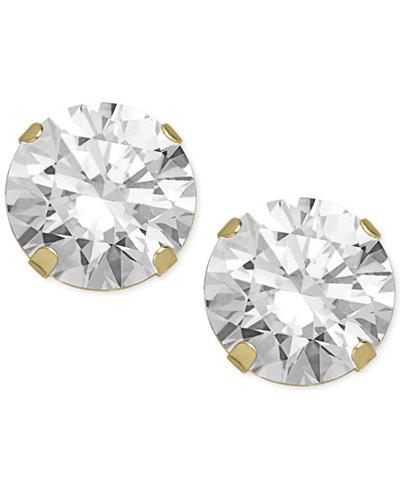 Swarovski Zirconia Round Stud Earrings in 14k Gold (5-5/8 ct. t.w.)
