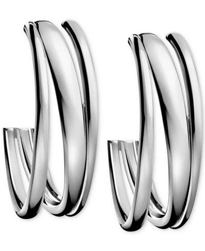 Calvin Klein Stainless Steel Polished Hoop Earrings