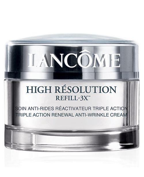Lancome High Résolution Refill-3X Anti-Wrinkle Moisturizer Cream SPF 15, 1.7 oz