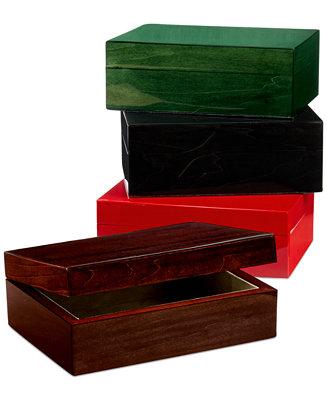 Closeout tizo piano finish wood jewelry box macy 39 s for Macy s standing jewelry box