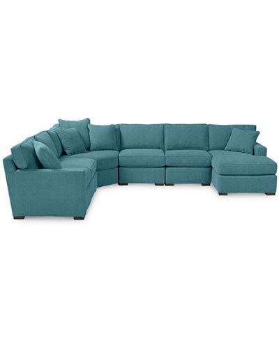 radley 6 piece fabric chaise sectional sofa custom colors With radley fabric 6 piece chaise sectional sofa