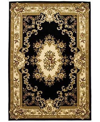 CLOSEOUT! Kas Corinthian 5310 Black/Ivory Aubusson 2'3