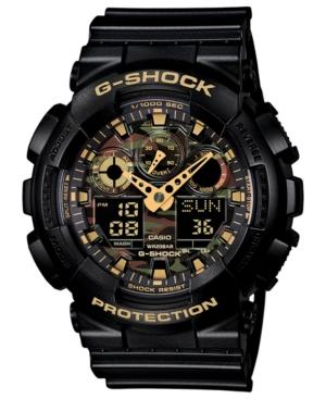 G-Shock Men's Analog-Digital Black Resin Strap Watch 55x51mm GA100CF-1A9