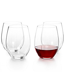 O Cabernet and Merlot Stemless Wine Glasses 4 Piece Value Set