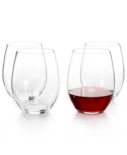 ad41b1c1e76 O Cabernet and Merlot Stemless Wine Glasses 4 Piece Value Set