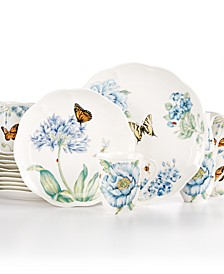 Butterfly Meadow Blue 18 Pc. Set Service for 6, Created for Macy's