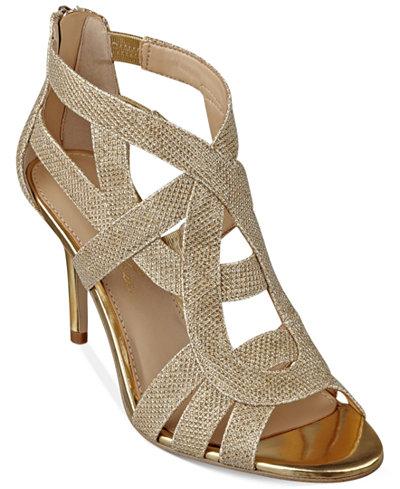 Marc Fisher Nala Mid Heel Evening Sandals Sandals