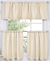 Elrene Cameron Cafe Curtain Collection - Easy Care Linen Look!