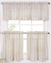 CLOSEOUT! Elrene Linen Stripe Window Treatment Collection