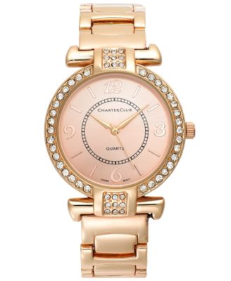 Image of Charter Club Women's Rose Gold-Tone Bracelet Watch 35mm
