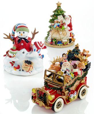Santa in His Musical Car Collectible Figurine
