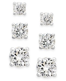 Cubic Zirconia Extra-Small Stud Earring Set (1-3/4 ct. t.w.)