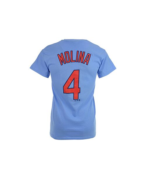 4aa48ca0c22 ... Majestic Men s Yadier Molina St. Louis Cardinals Official Player T-Shirt  ...