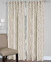 CLOSEOUT! Elrene Gia Embroidered Faux-Silk Room Darkening Window Collection