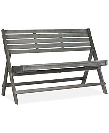 Wilson Outdoor Wood Bench, Quick Ship
