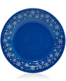 Fiesta Snowflake Luncheon Plate, Created for Macy's