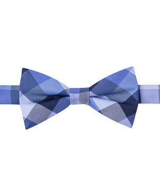 hilfiger buffalo tartan bow tie ties pocket
